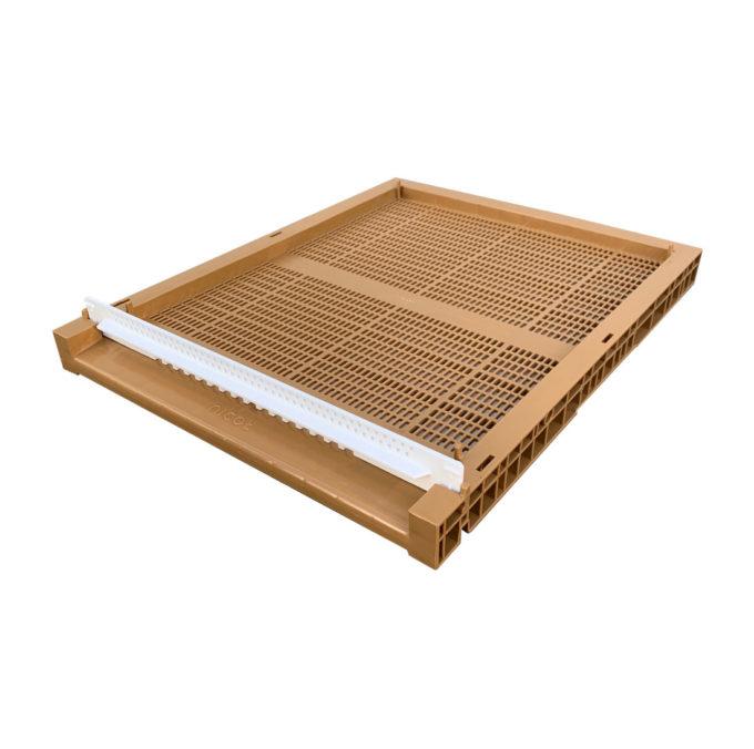 Nicot Zander Flachboden aus Kunststoff inklusive Fluglochkeil und Varroaschieber Imkerei.