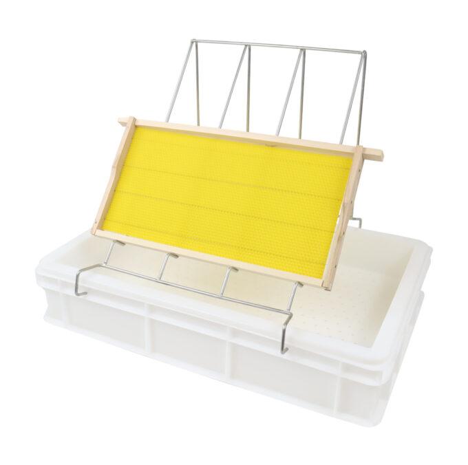 Entdeckelungsgeschirr aus Kunststoff 100mm zum Honigwaben Waben entdeckeln
