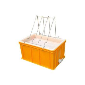 Entdeckelungswanne aus Kunststoff und Edelstahl 300mm zum entdeckeln von Honig Waben Entdeckelung Imkerei Rähmchen.