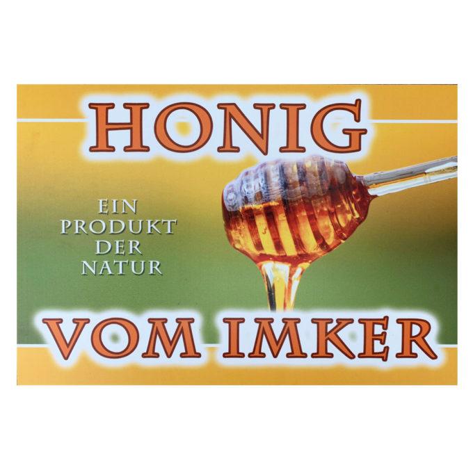 Werbeschild Schild Deko Honig vom Imker Imkerei