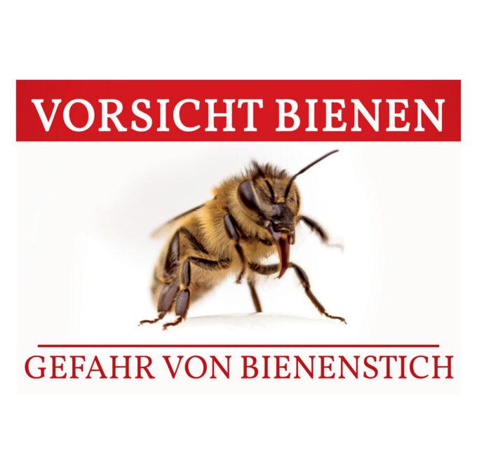 Werbeschild Vorsicht Bienen Schild Imkerei Bienen
