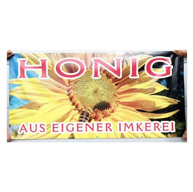 Werbebanner Honig aus Eigener Imkerei Plakat Banner Werbung Werbebanner