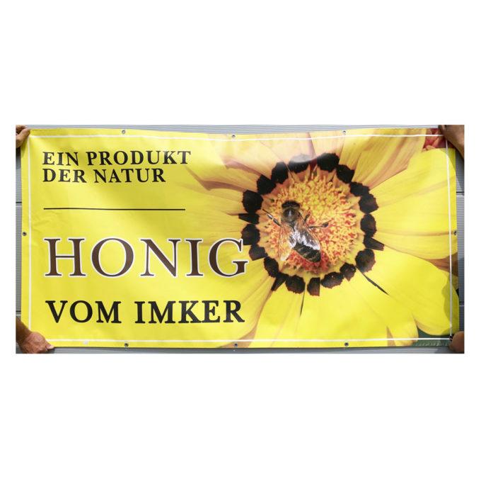 Werbebanner Honig vom Imkerei Plakat Banner PVC Imkerei Bienen