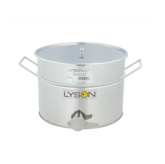 Abfüllbehälter Abfüller aus Edelstahl rostfrei zum Honig abfüllen 30 Liter 40 KG