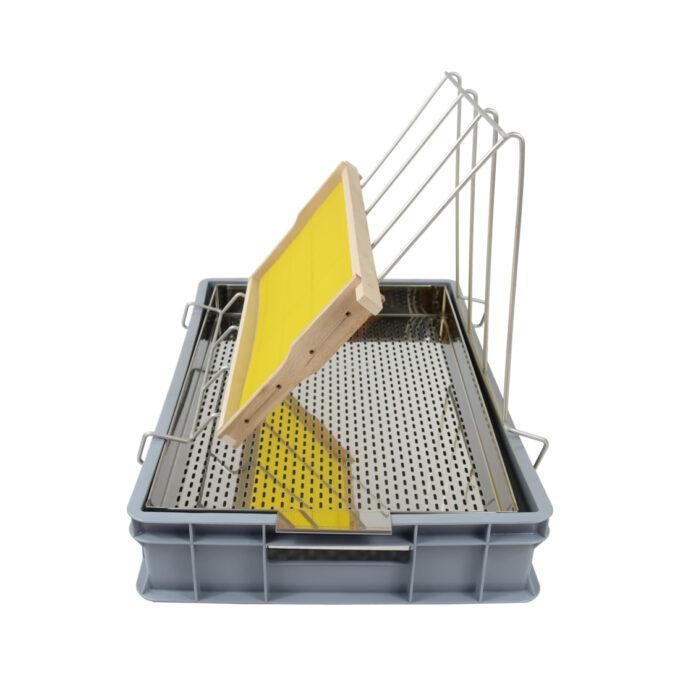 Entdeckelungsgeschirr Premium aus Edelstahl zum entdeckeln von Waben Honig Honigwaben Entdeckelungswanne
