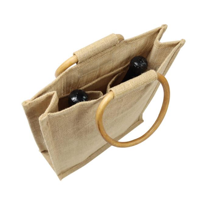 Geschenktasche aus Stoff für Honig und Wein Gläser