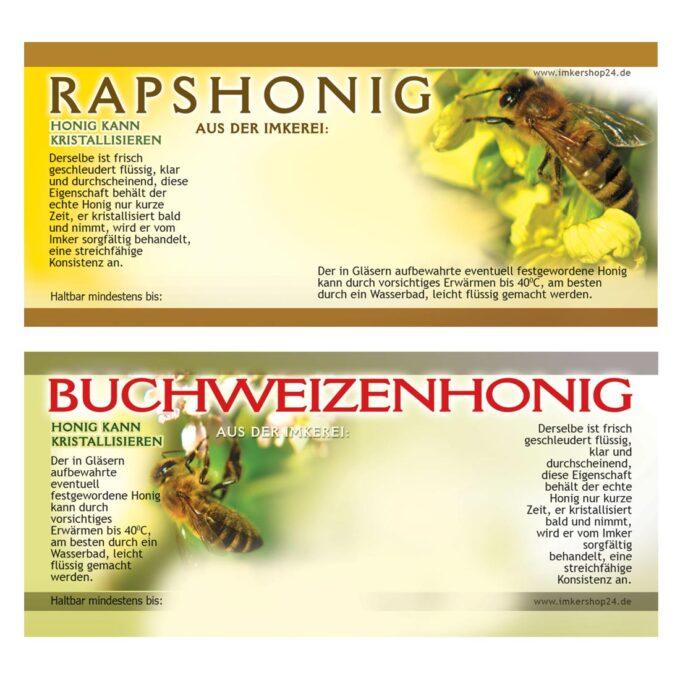 Etiketten für Honiggläser