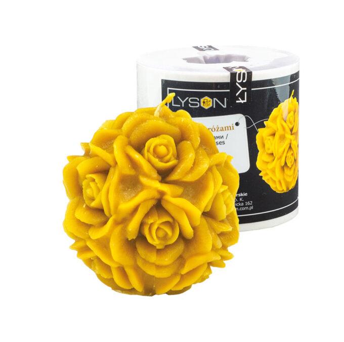 Kerzengießform Kugel mit Rosen zur Herstellung von Kerzen Kerzenformen Bienenwachs Kerzen Silikonformen Imkerei Bienen Ostern Weihnachten Deko Rose Blumen