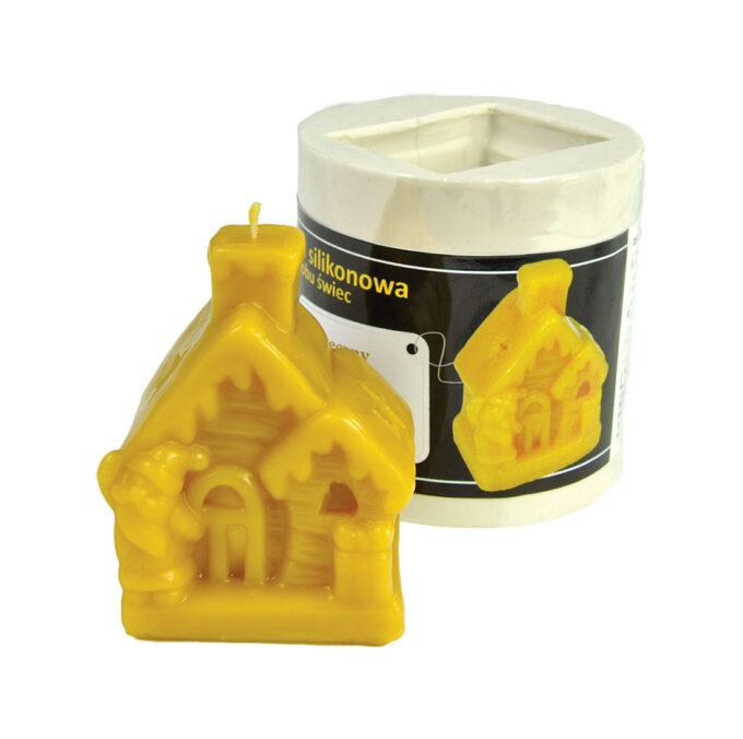 Kerzengießform Weihnachtshaus zur Herstellung von Kerzen Kerzenformen Bienenwachs Kerzen Silikonformen Imkerei Bienen Weihnachten Weihnachtsbaum Advent Adventskranz Winter